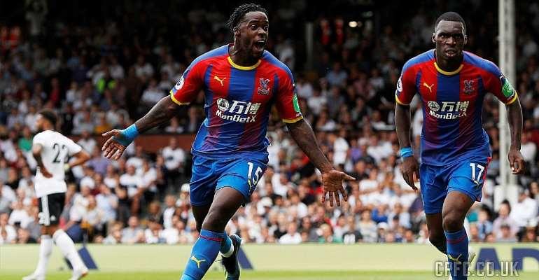 Ghana Defender Jeffery Schlupp Score An Incredible Goal As Crystal Palace Beat Fulham