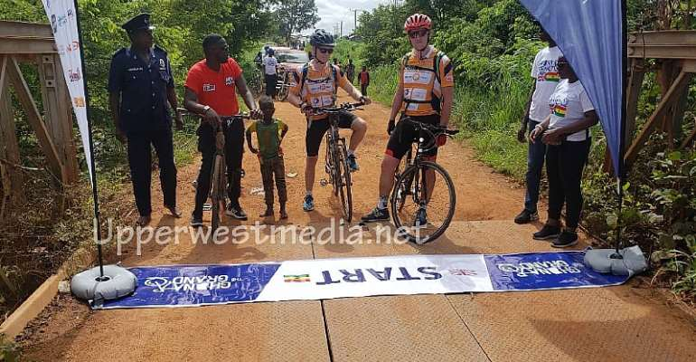 British High Commissioner Riding A Bicycle 844km From Tumu To Accra