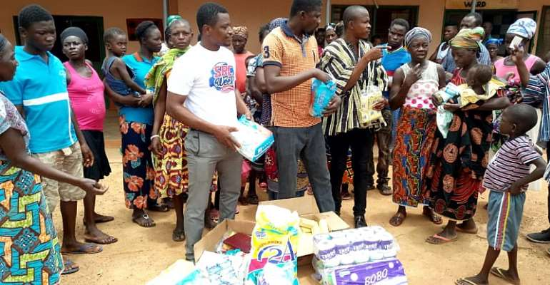 Nandom NDC Communication Team Donates Items To Patients In St. Theresa's Hospital
