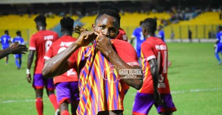 Joseph Esso celebrating a goal. Photo Credit/Dada Oliseh
