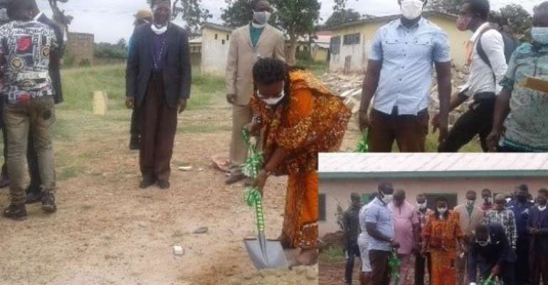 Outgoing Ada MP Cut Sod For Classroom Projects For Constituency