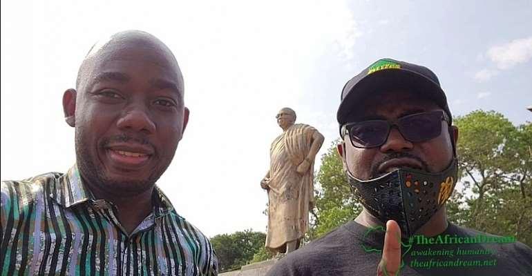 Abeiku Aggrey Santana takes Oral Ofori on a Heritage Tourism ride in Accra