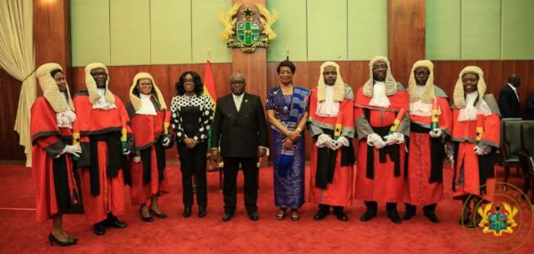 Akufo-Addo Tells New Judges To Demonstrate Honesty, Integrity, Sound Knowledge Of Law