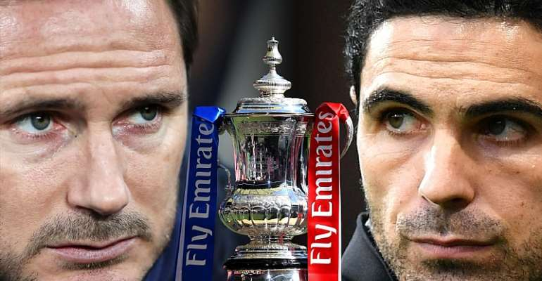 Frank Lampard and Mikel Arteta ahead of the FA Cup final  Image credit: Eurosport