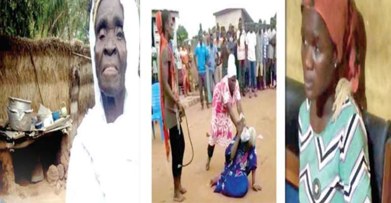 KILLED! Akua Denteh, The 90-year-old woman being assaulted by the suspects, GRABBED! Latifah Bumaye