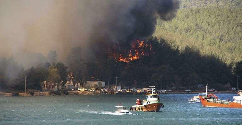 Evacuations underway as alarming outbreak of wildfires sweeps Europe