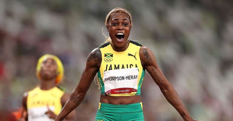 Tokyo 2020: Elaine Thompson-Herah defends 100m Olympic title with record time