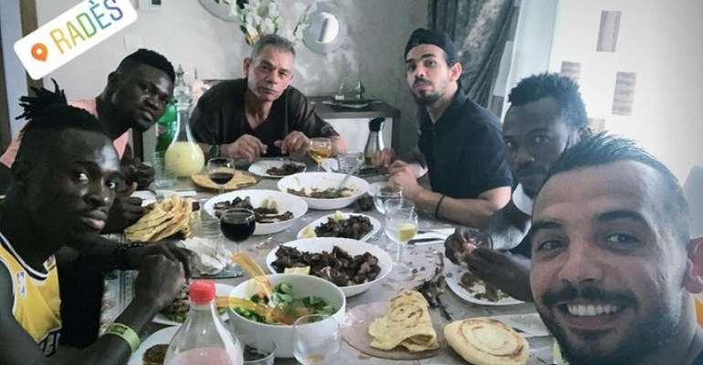 Kwame Bonsu Enjoys Eid-Ul-Adha At Home Of Espérance Goalie Moez Ben Cherifia