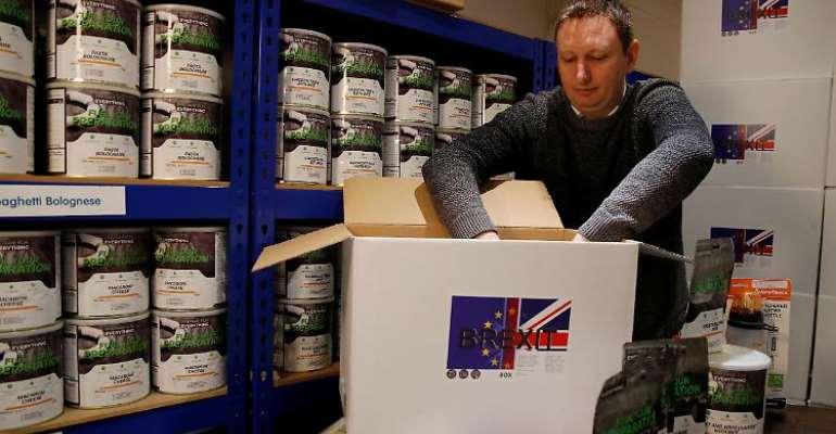 A British hoarding food