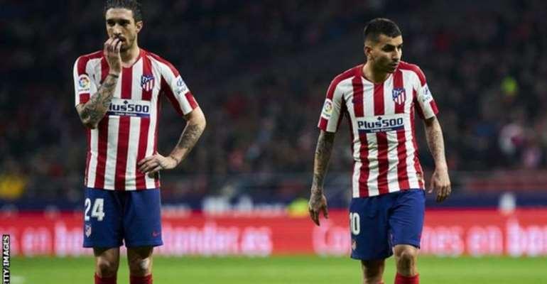 Atletico say both Sime Vrsaljko (left) and Angel Correa are asymptomatic