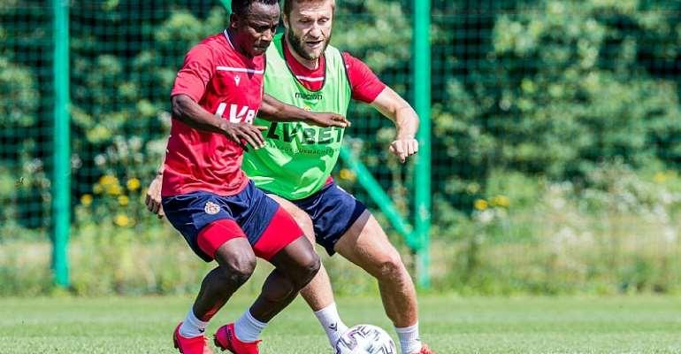 Attacker Yaw Yeboah Begins Training At Wisla Krakow