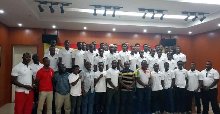 Team Ghana In A Picture With Some Members Of The National Sports Authority