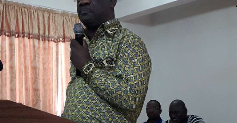 The Commissioner-General of GRA Emmanuel Kofi Nti speaking at the opening ceremony of the two-day media training in Koforidua