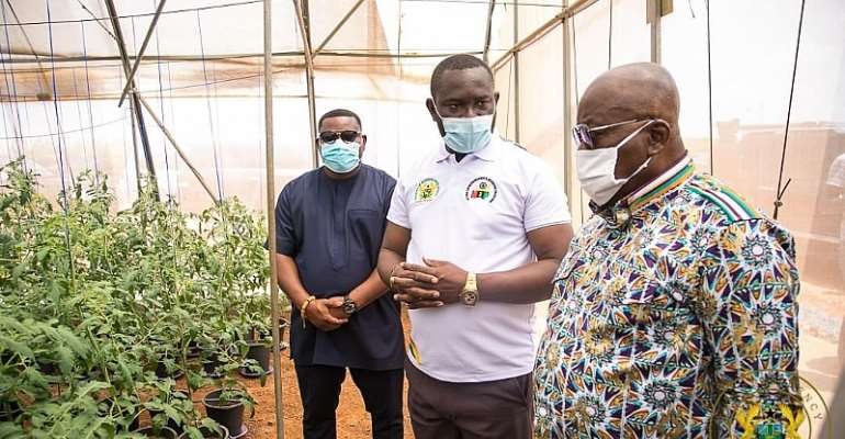 Akufo-Addo Commissions 75 Greenhouses And Innovation Centre [Photos]