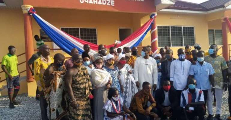 Afenyo‐Markin Builds, Commissions Health Center For Effutu Gyahadze
