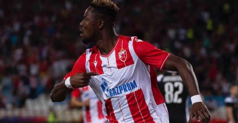 Boakye-Yiadom On Target As Red Star Reach Champions League Playoff