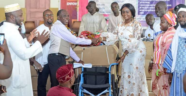 Hon. Barbara Oteng-Gyasi Donate Mobility Aids To Ghana Federation Of Disability