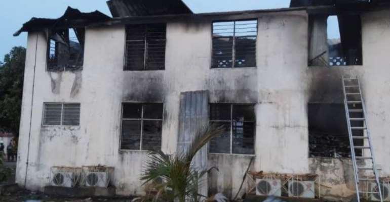 EC Sapeiman Office On Fire