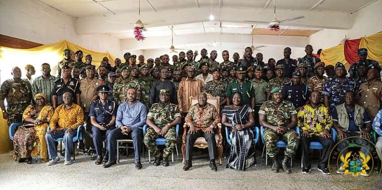 U/E/R: Increased Presence Of Soldiers To Fight Terrorists – Akufo-Addo