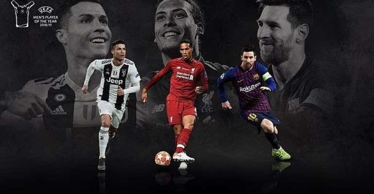 Messi, Ronaldo And Van Dijk Nominated For UEFA Award