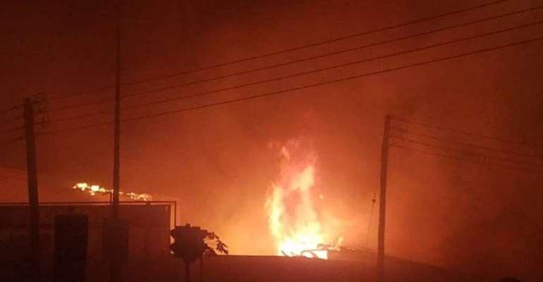 Fire Destroys Stores At Takoradi Market Circle