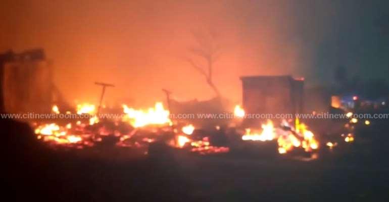 Fire Ravages Over 100 Kiosks At Shiashie