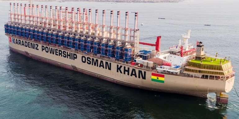 Karpower Barge Arrives In Sekondi Naval Base