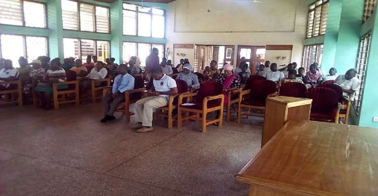 A cross-section of the workers at the conference hall of the Berekum Municipal Assembly