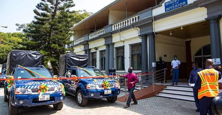 Sanitation Ministry Present Vehicles To Interior Ministry