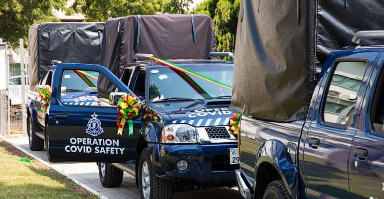 Interior Ministry Receives 3 Pick-Ups From Zoomlion, Sanitation Ministry