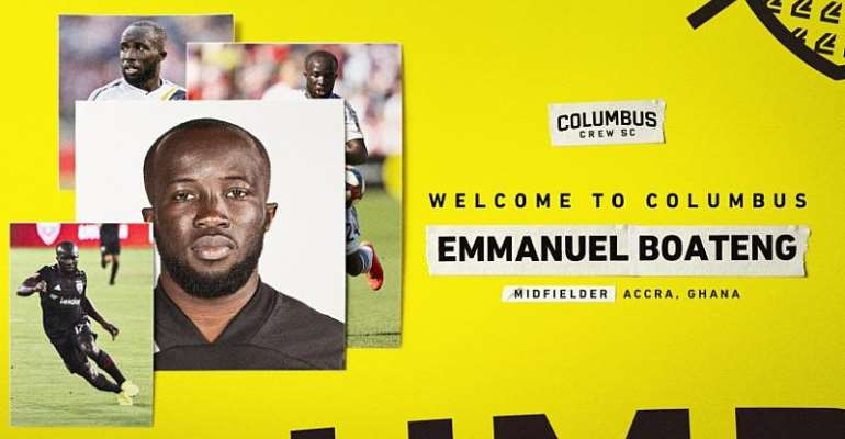 Columbus Crew President Excited With Signing Of Attacker Emmanuel Boateng