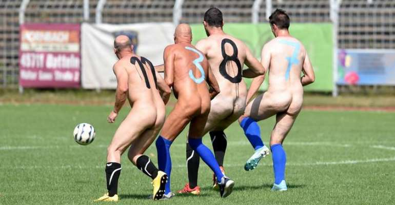 Football Players In Germany Go Naked In Artist Protest