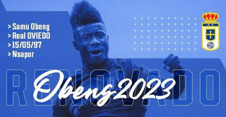 Samuel Obeng Inks New Real Oviedo Contract Until 2023
