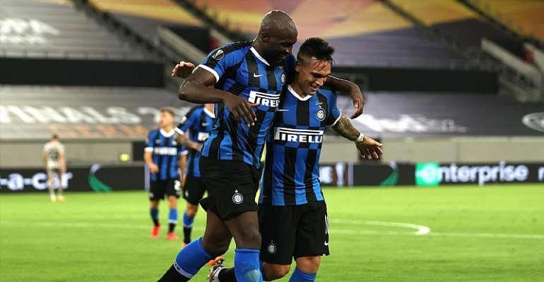Romelu Lukaku, Lautaro Martinez, Inter v Shakhtar  Image credit: Getty Images