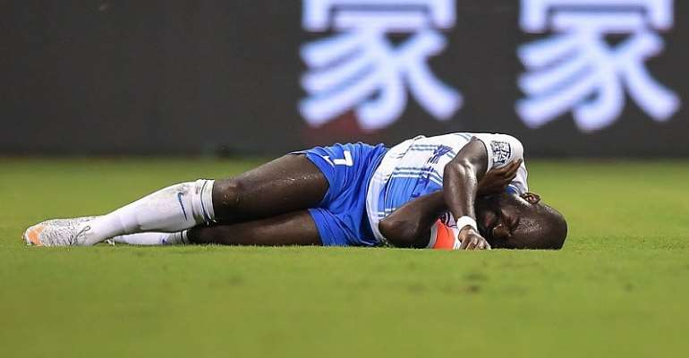 Frank Acheampong Hit With Fresh Injury On His Debut As Tianjin Teda Captain