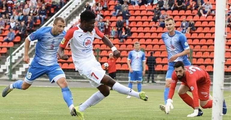 Ghana Winger Francis Narh Scores As Slavia Mozyr Defeat Dnyapro 1-0