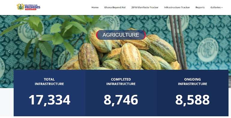 NPP Gov't Launches Website For Tracking Its Infrastructural Projects