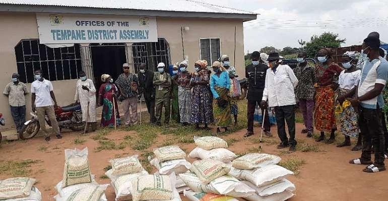 World Vision International-Ghana Support 200 PWD's In Tempane District