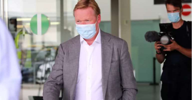 Ronald Koeman arriving at Barcelona airport for to sign as new FC Barcelona coach, in Barcelona, on August 18, 2020  Image credit: Getty Images
