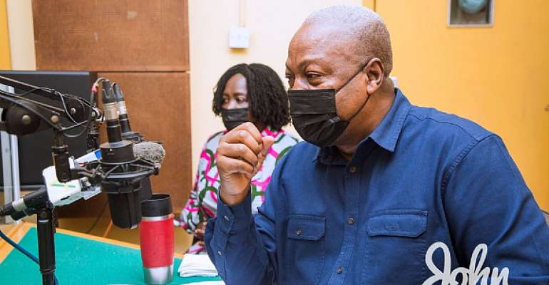 Closure of radio stations: You've set precedence, the stick that beat Takyi will beat Baah one day – Mahama to Akufo-Addo