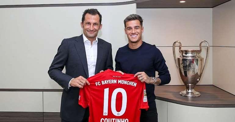Coutinho Joins Bayern Munich From Barcelona On A Season-Long Loan