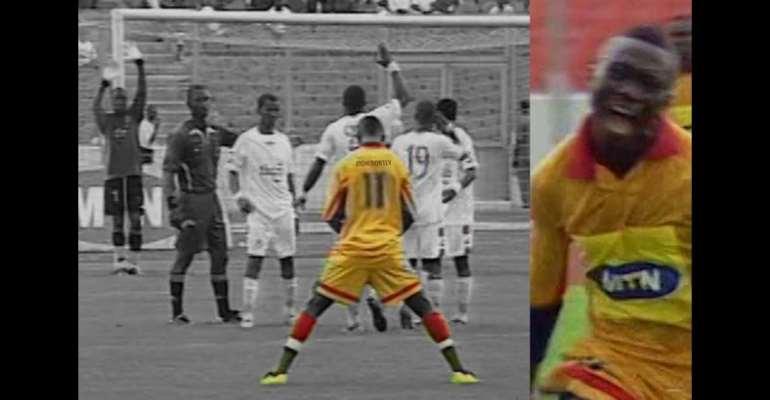 Watch Don Bortey's Insane Free-kick Against Asante Kotoko [VIDEO]
