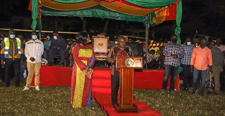 Akufo-Addo Inaugurates Aboso Community Mining Scheme