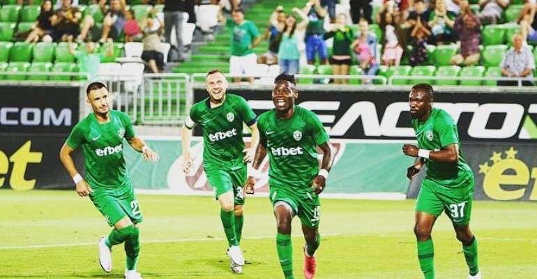 Winger Bernard Tekpetey Impress In Ludogorets' 3-1 Win Against Buducnost Podgorica