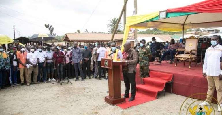 """We're Constructing Real Roads; Not Green Book Propaganda Roads"" – Akufo-Addo Fires Mahama"