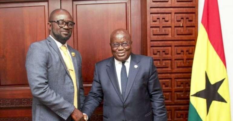 GFA President, Kurt Okraku and President Akufo Addo