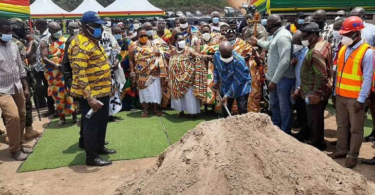 Akufo-Addo Cuts Sod For Construction Of 100-bed Capacity District Hospital At Shama