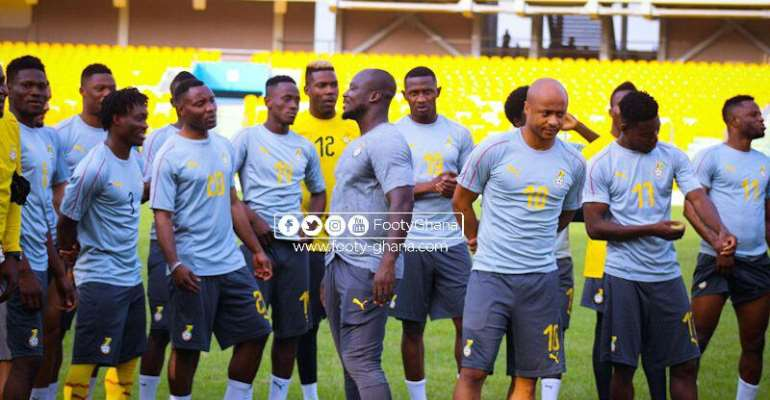 Black Stars players in camp