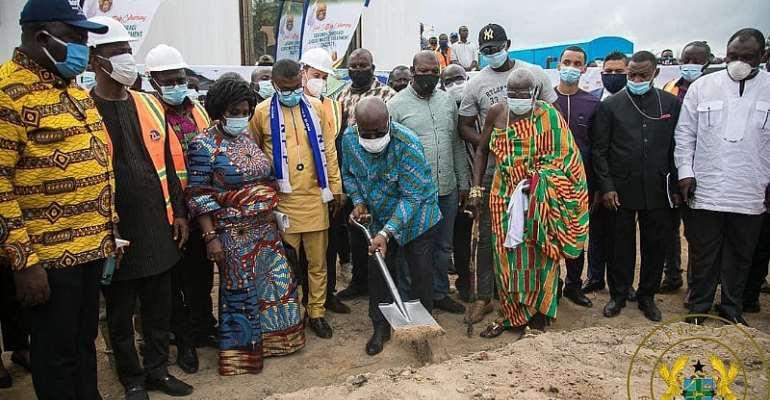Akufo-Addo Cuts Sod For Waste Treatment Facilities In Western Region