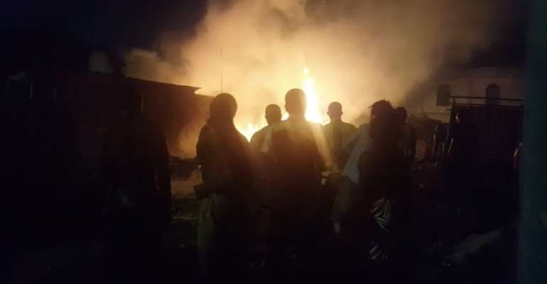 Fire Ravages Slum In Laterbiokoshie